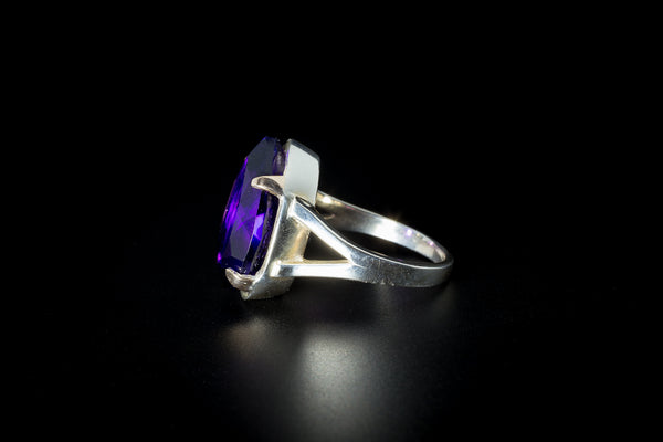 """Alcazar Pear"" Amethyst Ring"
