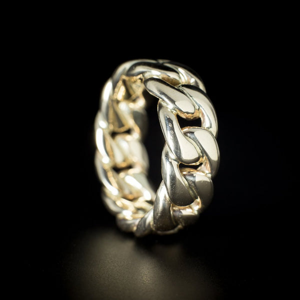 """Chain Link"" 9ct Gold Ring"