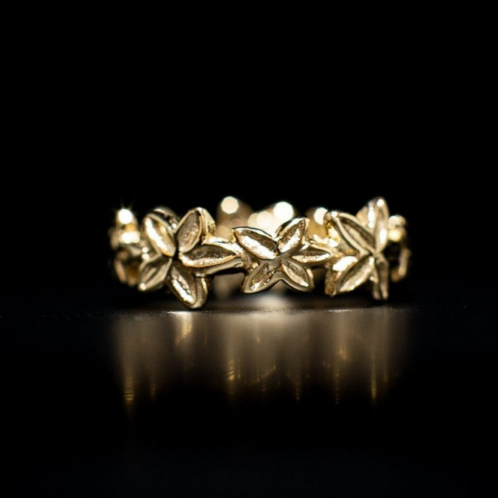"""Frangipani"" 9ct Gold Ring"