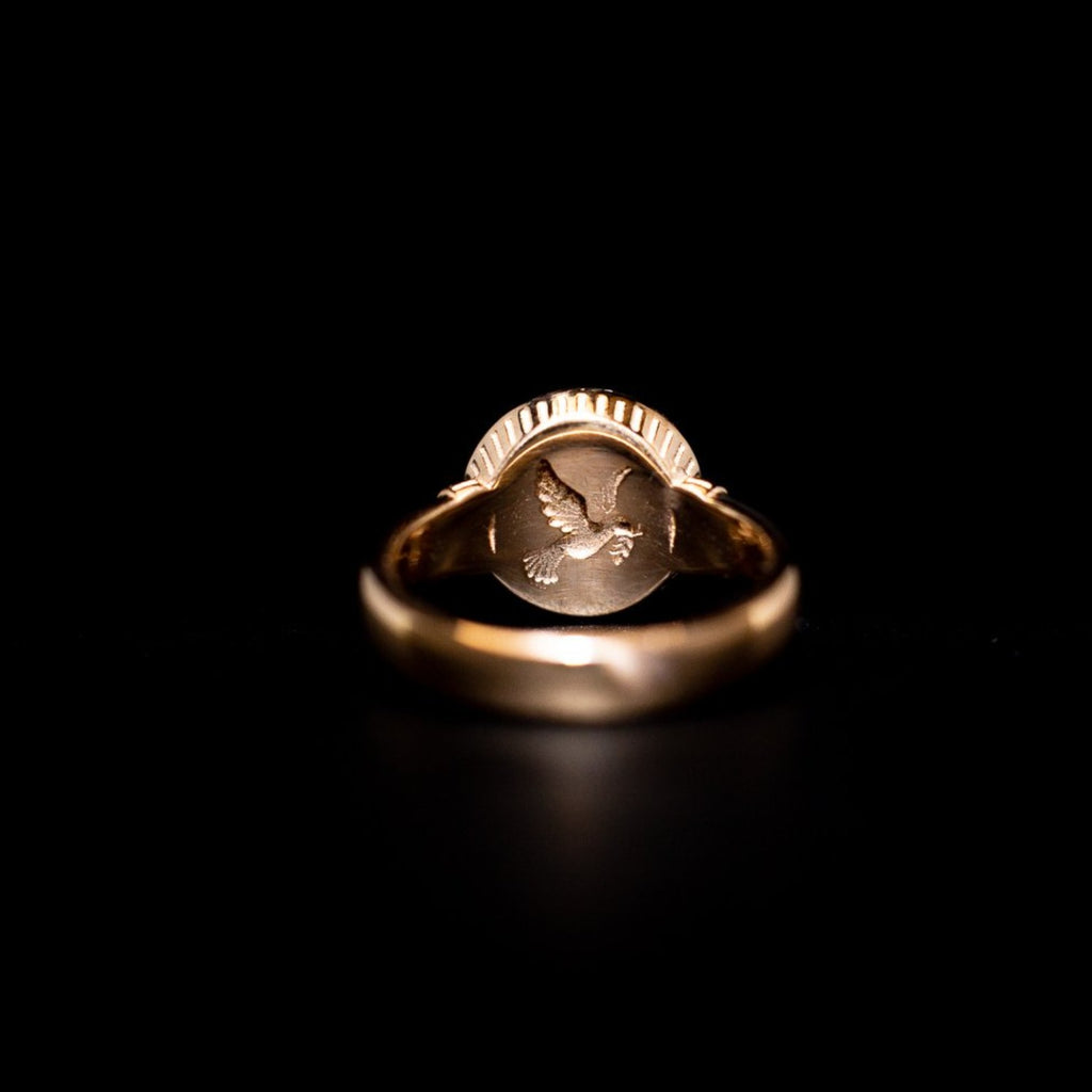 """Peace Dove"" Gold Ring"