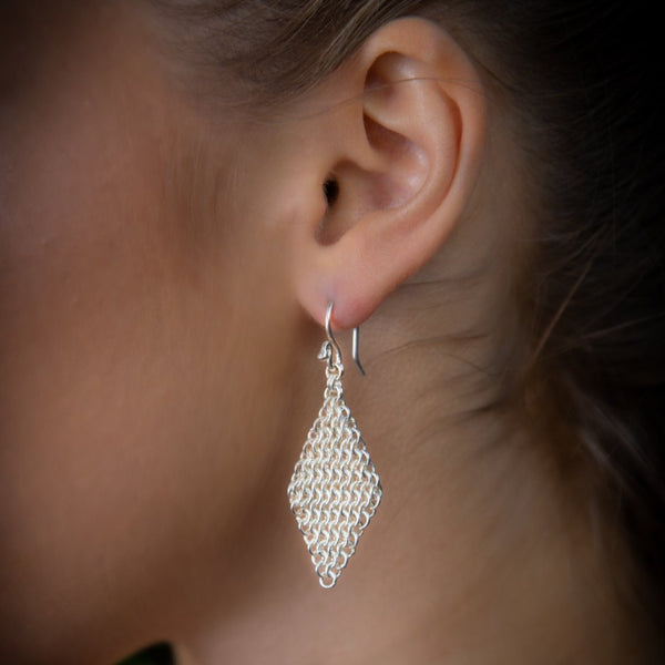 """Diamond Chain"" Earrings"