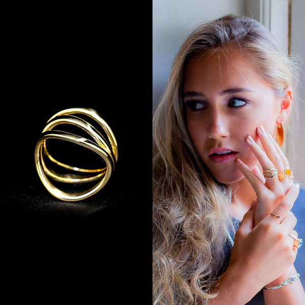 """Illusion"" 9ct Gold Ring"