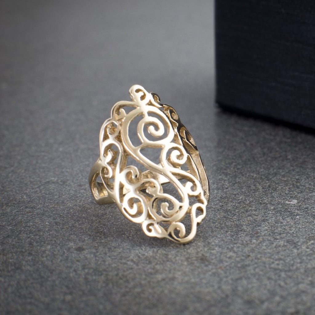 """Filigree"" 9ct Gold Ring"
