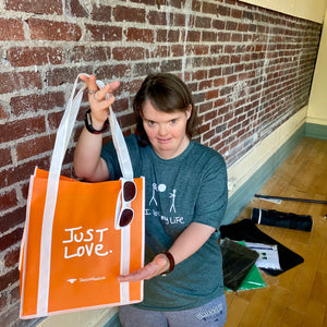 JUST LOVE tote! ORANGE