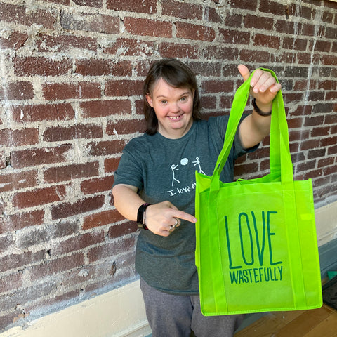 Love Wastefully tote!  GREEN