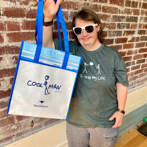 COOL MAN tote! BLUE