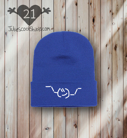 **NEW** EMOJI BEANIE - ROYAL