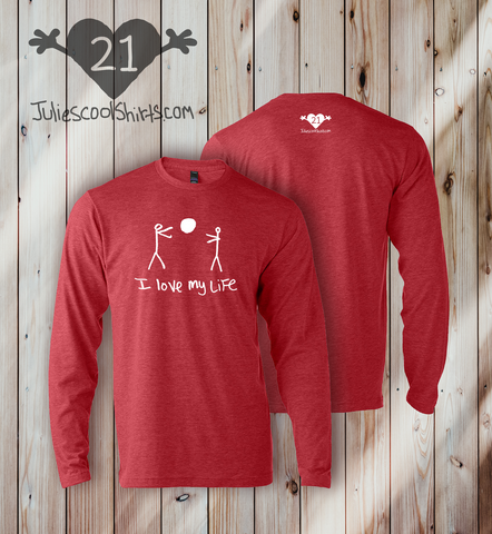 I LOVE MY LIFE LONG SLEEVE - RED