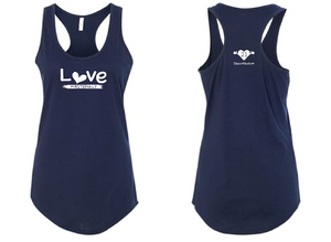 LOVE WASTEFULLY TANK - NAVY