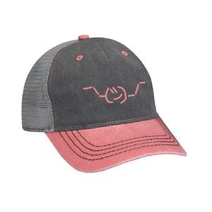 EMOJI BASEBALL CAP - CHARCOAL/LIGHT PINK
