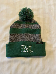 JUST LOVE KNIT POMPOM BEANIE - green