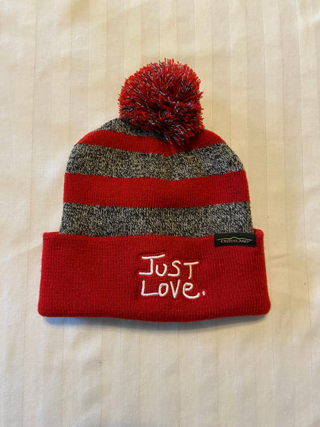 JUST LOVE KNIT POMPOM BEANIE - red