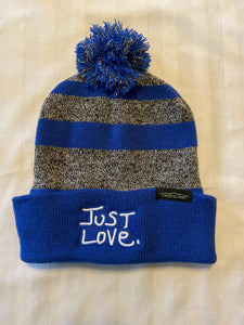 JUST LOVE KNIT POMPOM BEANIE - royal