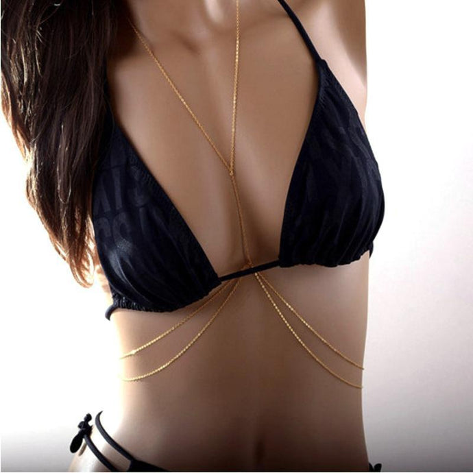 Bohemia Body Necklace Belly Chain - 2 Colors