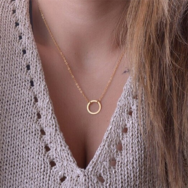 Low Qty Minimalist Circle Pendant Necklace