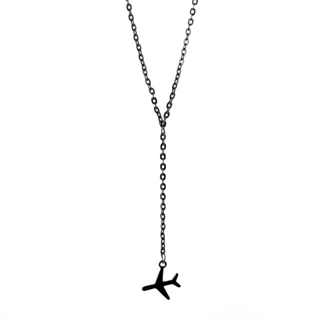Wanderlust Airplane Necklace - 3 Colors