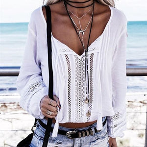 Boho Long Velvet Necklace