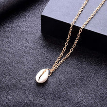Load image into Gallery viewer, Cowrie Conch Shell Pendant Necklace - 2 Colors
