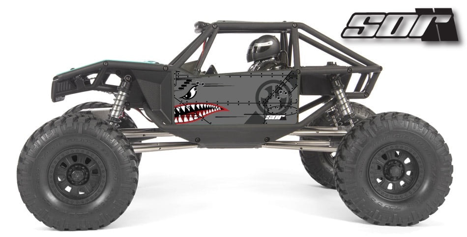 Flying Tiger wrap for the Axial Capra, Grey