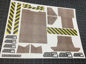Axial UMG10 Crusty Bed Decal Sheet
