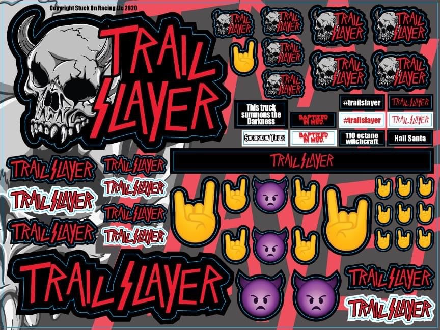 Trail Slayer Decal Sheet