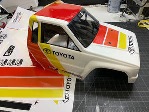 Ivan Scale Decal sheet for Toyota Crawler bodies