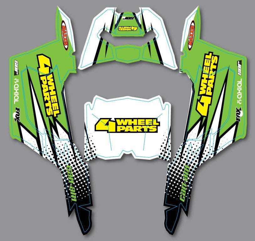 "Axial Yeti Jr. Can-Am Maverick ""Ravage"" graphic"