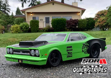 QuickStripes Billboard Decals for Drag cars