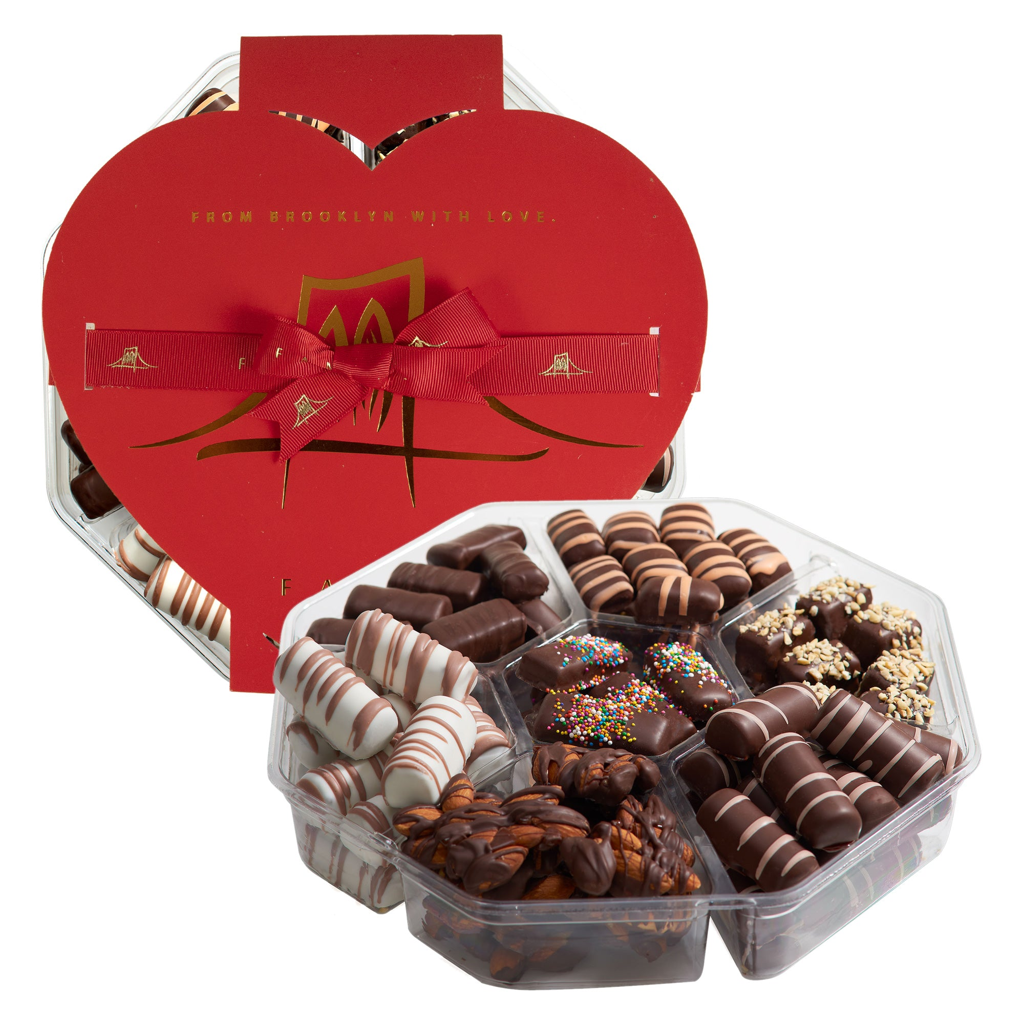 Valentine chocolate heart box