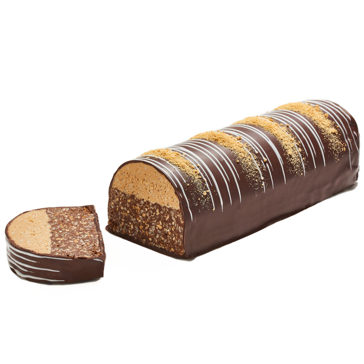 Fancy Chocolate Truffle Halva Log, Kosher