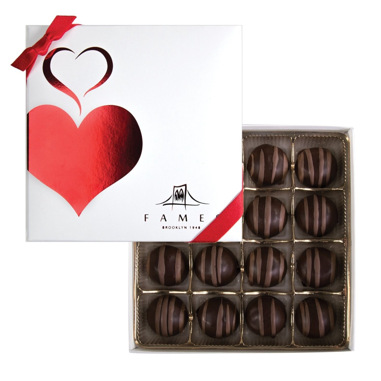 Gourmet Chocolate Truffles Gift Box - 16 count