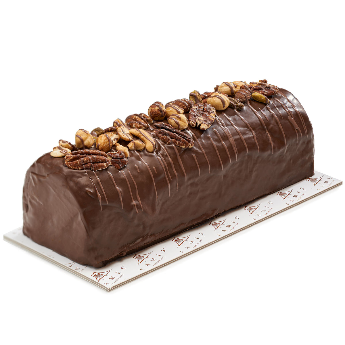 Chocolate  Nutty Halva Log  In Gift Box