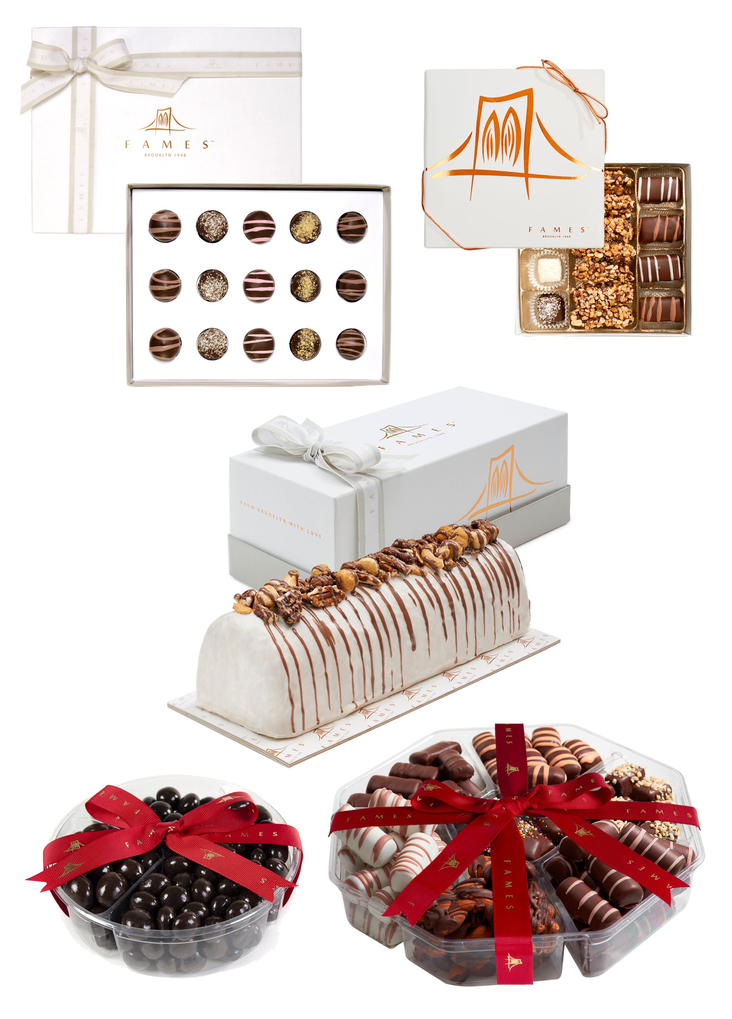 Large Holiday Chocolate Gift Assortment, 5 Chocolate Gifts