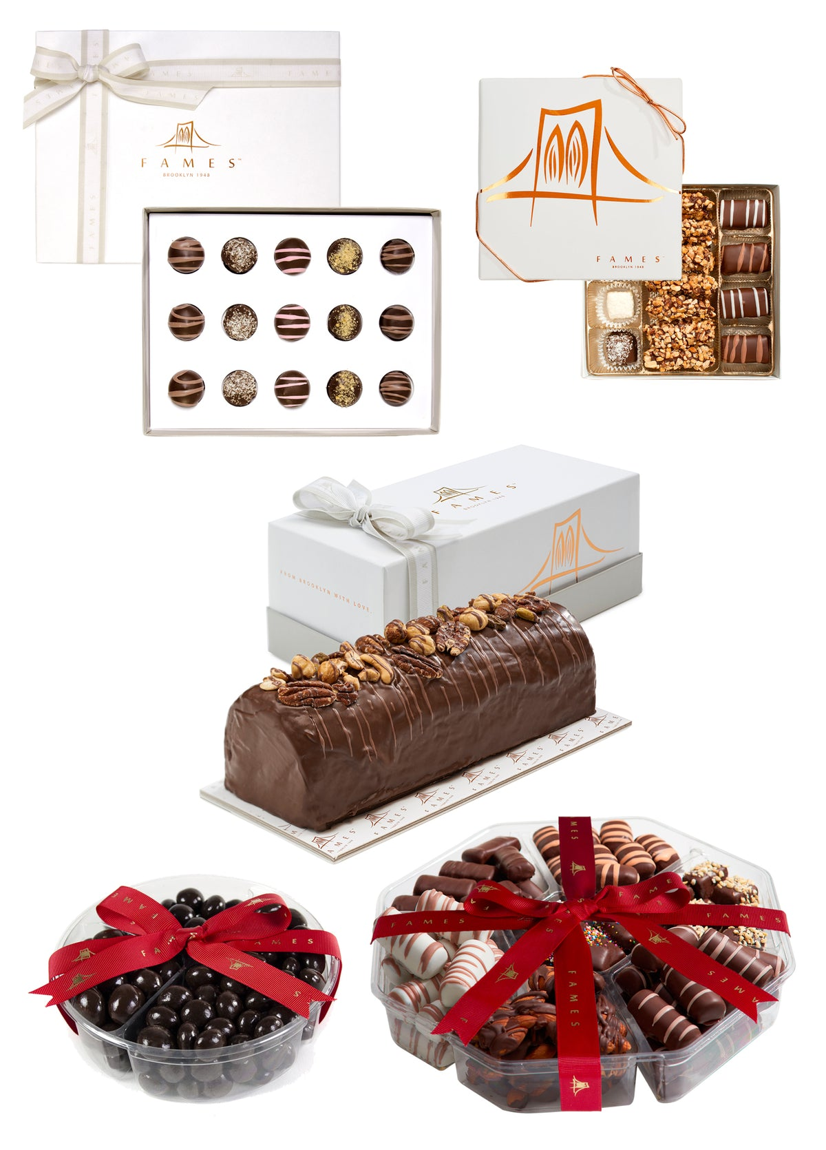 Holiday Chocolate Gift set for Families, Holiday Celebration with Festive Holiday Treats, Kosher, Dairy Free.