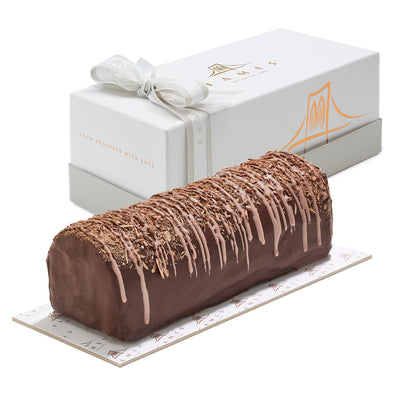 Chocolate Fudge Log In Gift Box