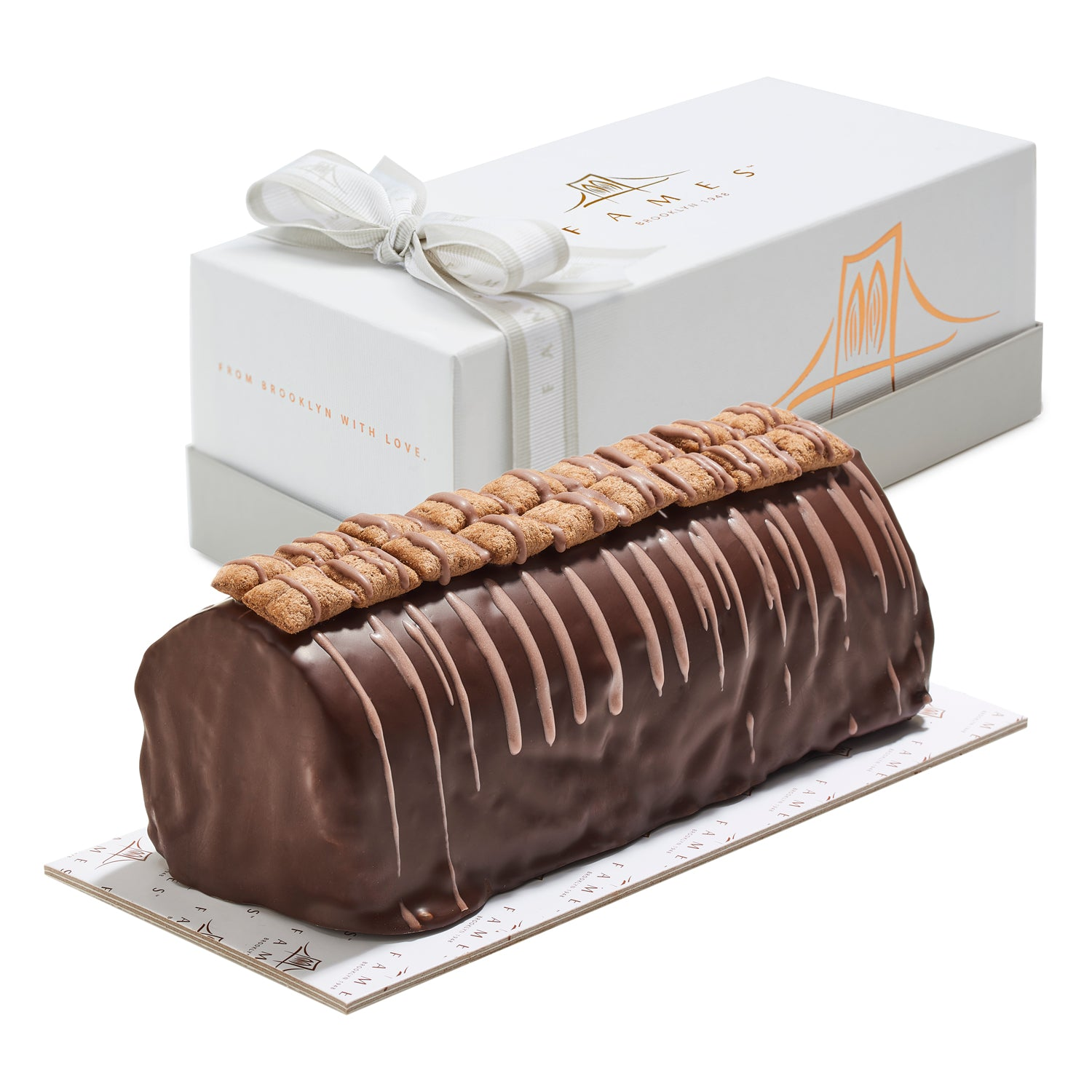 Crispy Chocolate Log In Gift Box