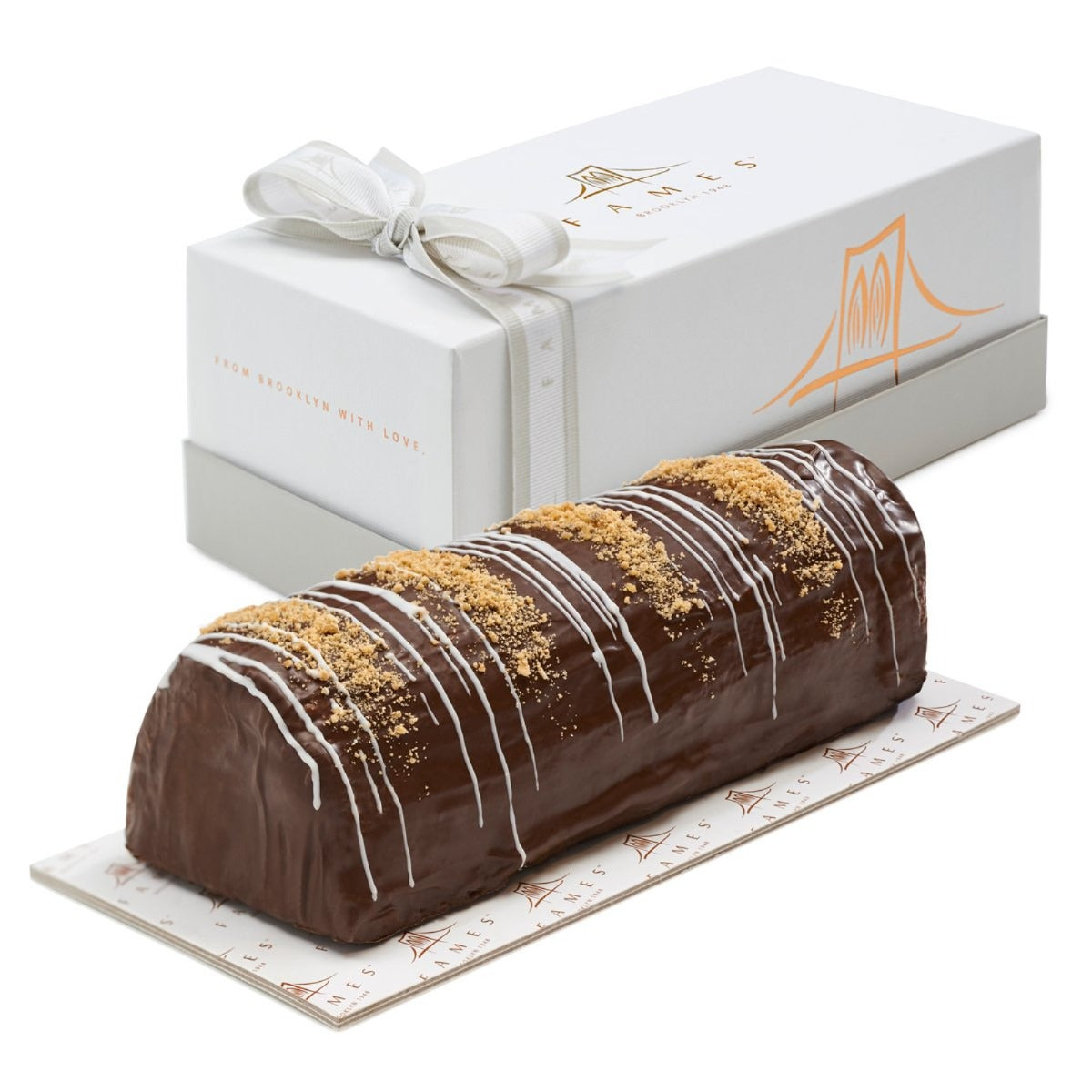Fames Chocolates Truffle Halva Chocolate Log In Gift Box, Kosher