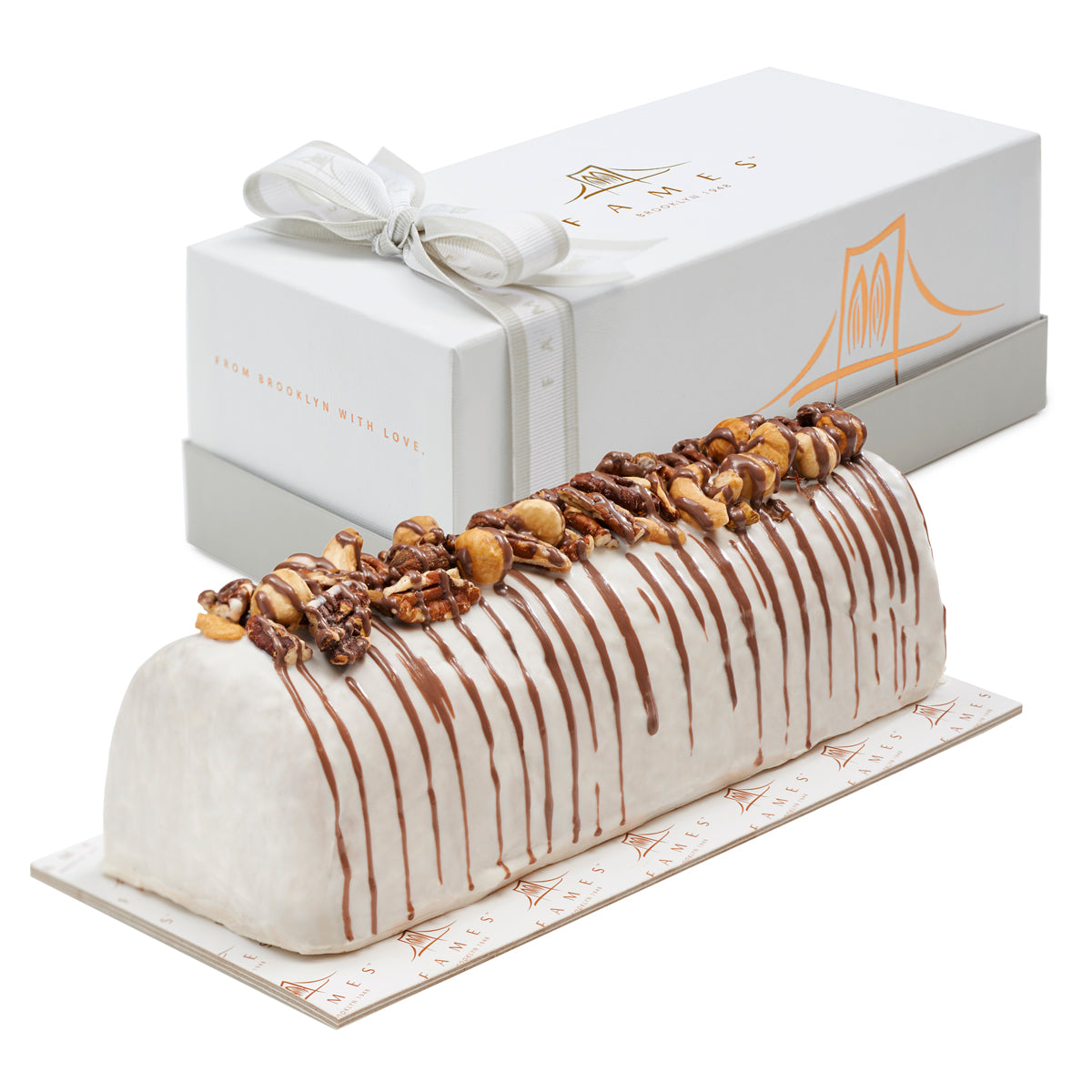Fames Vanilla Nutty Halva Log In Gift Box