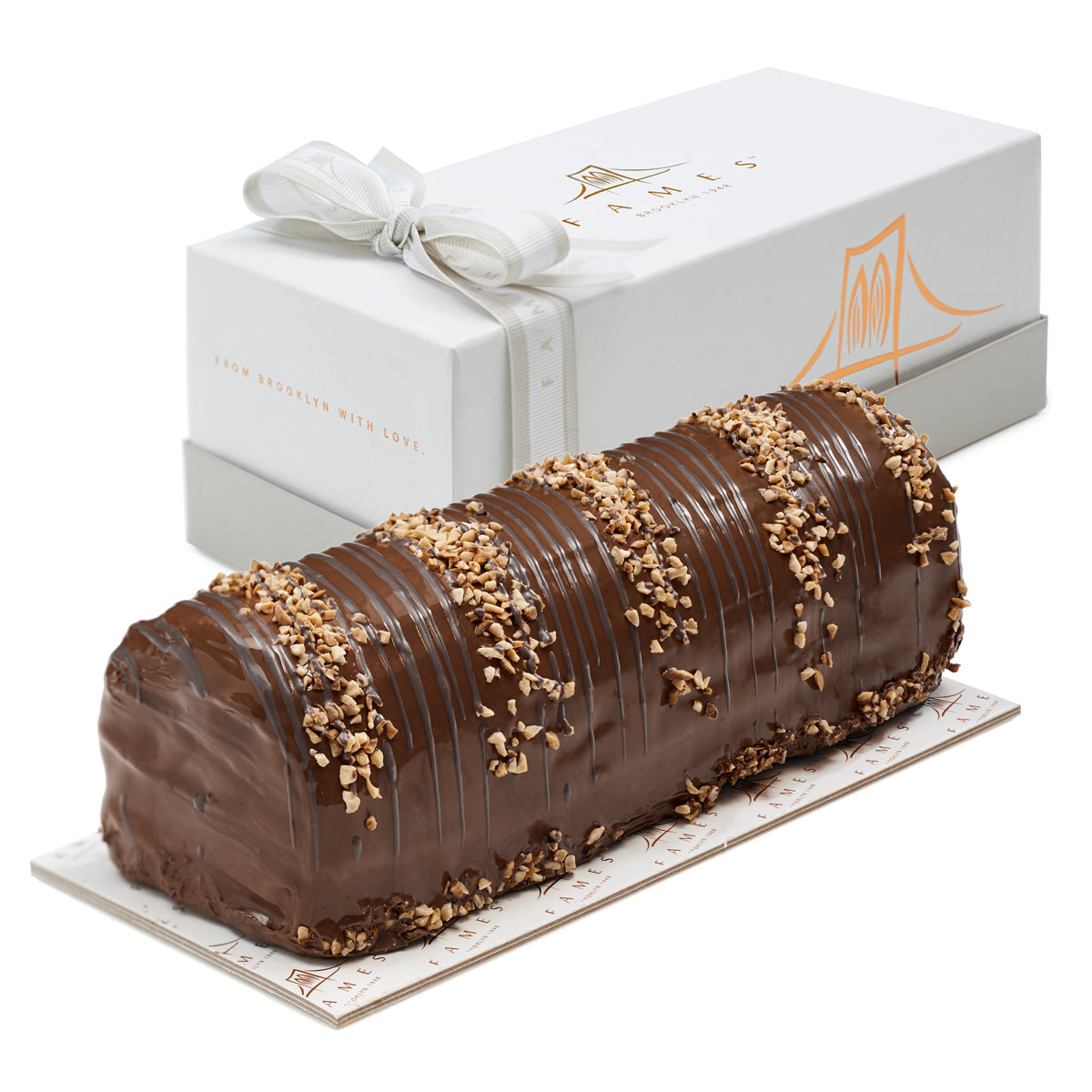 chocolate halva cake log