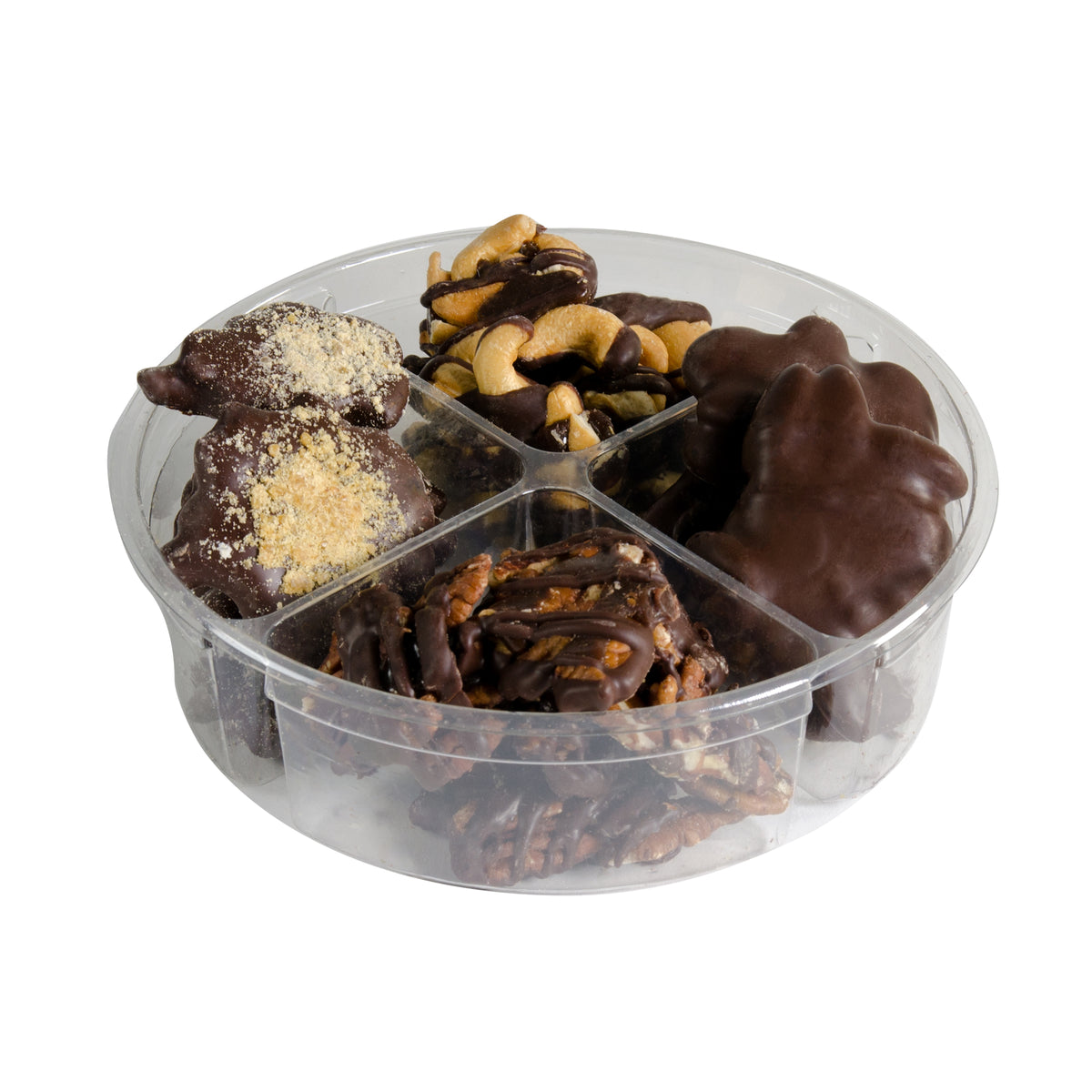 Holiday Nut Cluster Gift Tray. Dairy Free Chocolate.