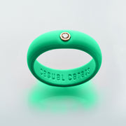 Retro Green Silicone Band