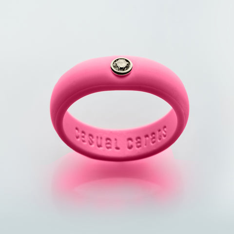 Hot Pink Silicone Band