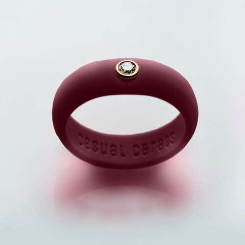 Maroon Silicone Band