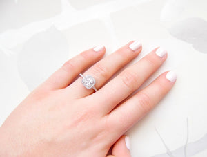 Square Promise Ring