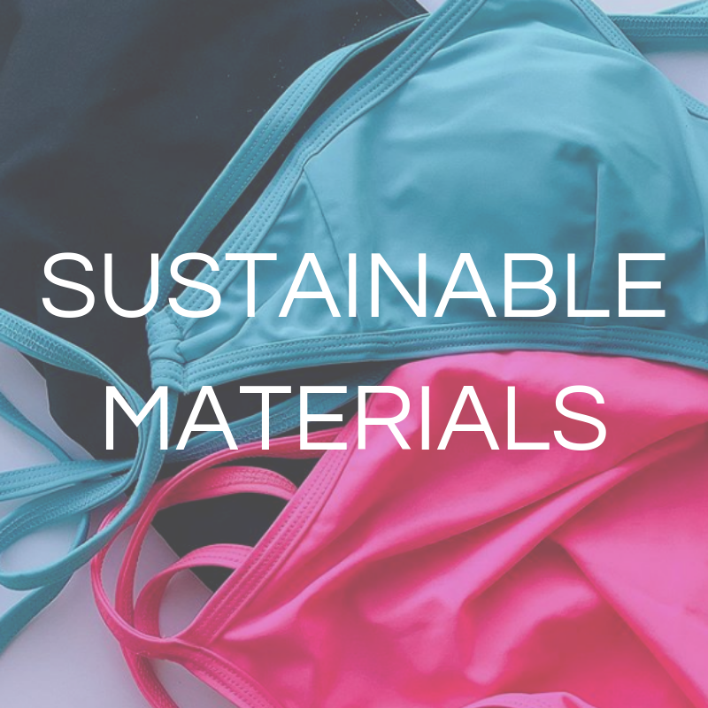 Athletic swimwear made from eco sustainable materials