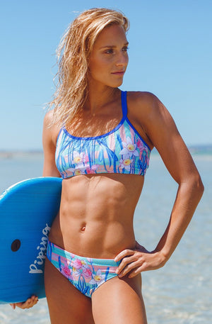 Freestyle Women's Two Piece Bikini in Daffodil Passionfruit Print