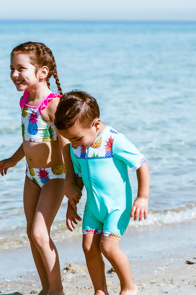 kids printed swimsuit