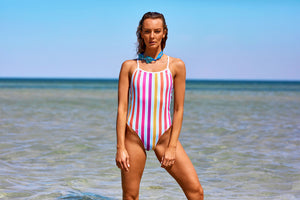 Somersault Women's One Piece Swimsuit in Horizon Stripes