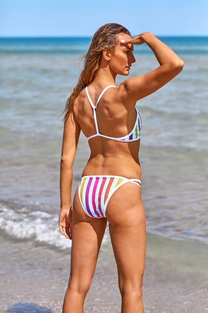 Race Me Women's Bikini Set in Horizon Stripes