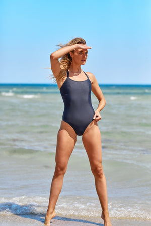 Freestyle Women's One Piece Swimsuit in Black